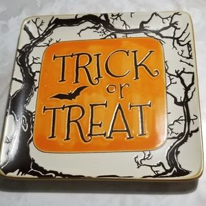 inHomestylez Trick or Treat Happy Halloween Dish